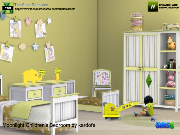 The Sims Resource: Moonlight Childrens Bedroom by Kardofe