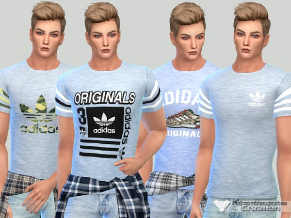 The Sims Resource: Summer Tees For Him by Pinkzombiecupcakes