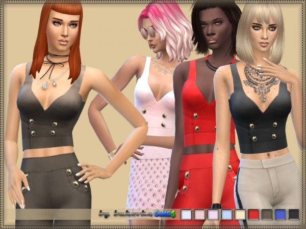 The Sims Resource: Top and Buttons by Bukovka