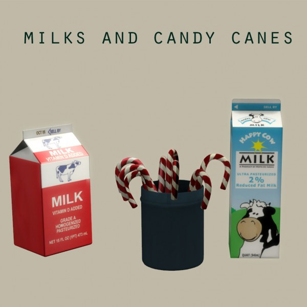 Leo 4 Sims: Milk Boxes and Candy Canes