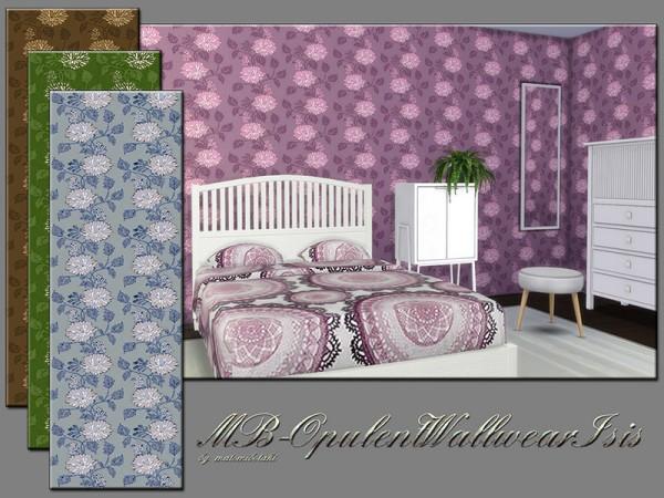 The Sims Resource: Opulent Wall wear Iris by matomibotaki