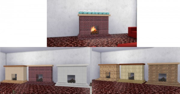 Mod The Sims: Fire Places 2 by AdonisPluto