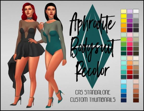 Simsworkshop: Aphrodite Bodysuit Recolor by Sympxls