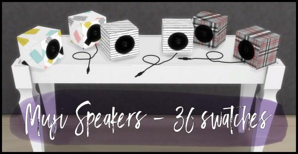 Simsworkshop: Muji Speakers by Sympxls