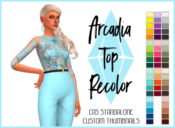 Simsworkshop: Arcadia Top Recolor by Sympxls