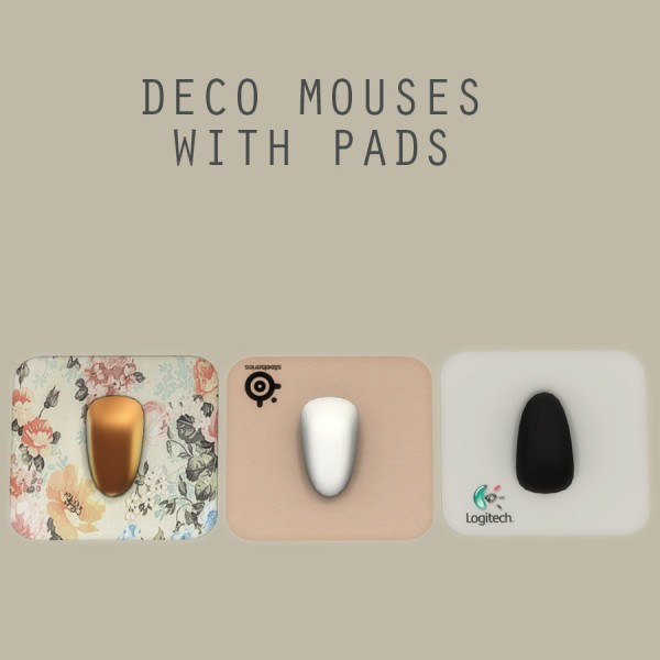 Leo 4 Sims: Deco Mouse with pad