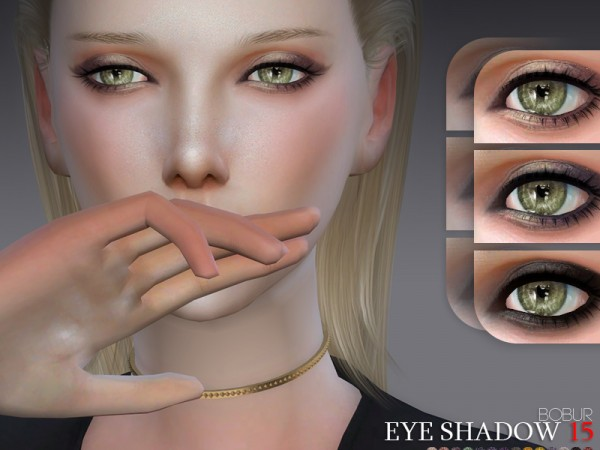 The Sims Resource: Eyeshadow 15 by Bobur