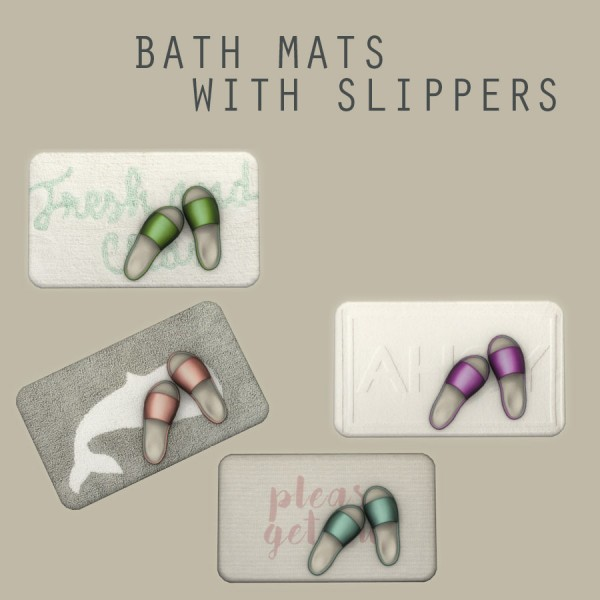 Leo 4 Sims: Bath Mat With Slippers