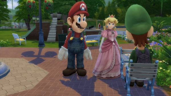 Simsworkshop: Mario Luigi Costume and Princess Peach by