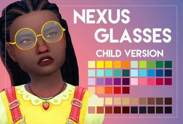 Simsworkshop: Nexus Glasses   Child Version by Weepingsimmer