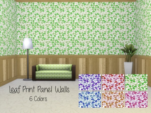 Mod The Sims: Leaf Panel Walls by Lenabubbles82