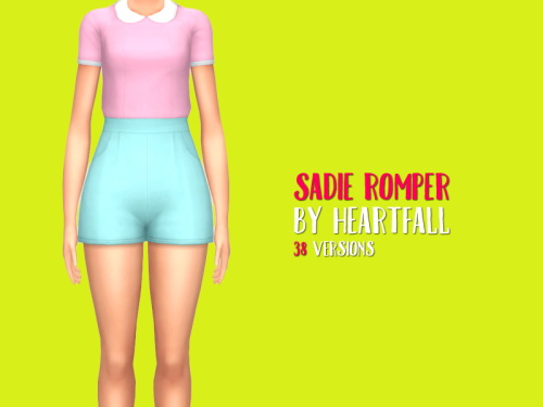 Simsworkshop: Sadie Romper recolored by heartfall