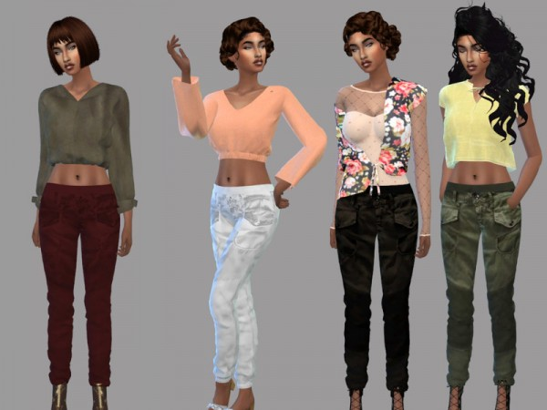 The Sims Resource: Army Radar Strap Pants by Teenageeaglerunner