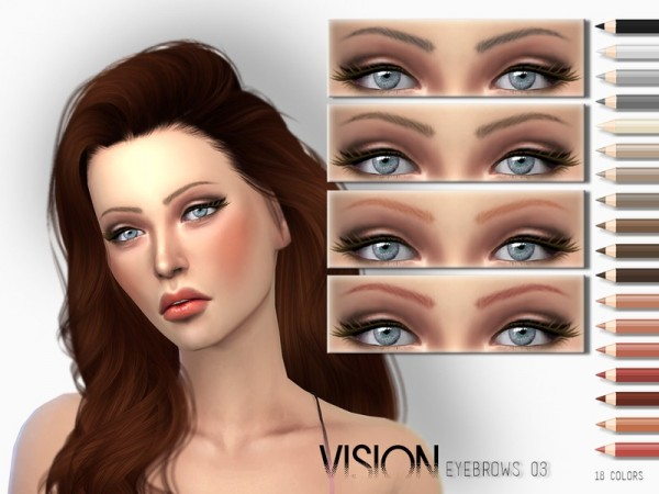 The Sims Resource: Vision Eyebrows V03 by .Torque
