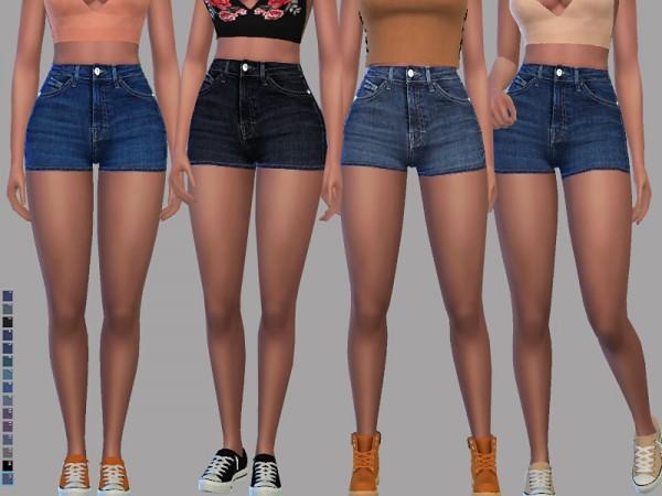 The Sims Resource: Madison Denim Shorts by Pinkzombiecupcakes