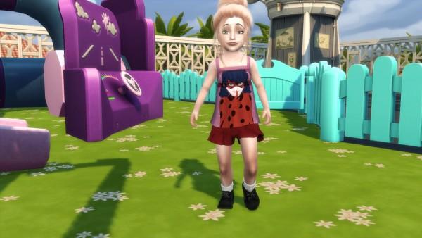 Simsworkshop: Miraculous Ladybug toddler shirts by ShadowEatsSkittlez