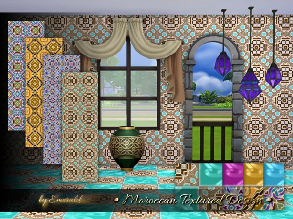 The Sims Resource: Moroccan Textured Designs by emerald