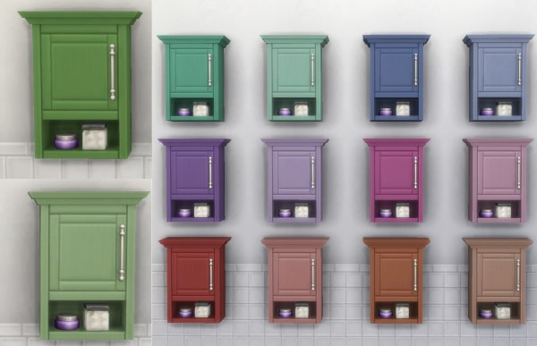 Mod The Sims: Bathroom Items Recoloured by simsessa