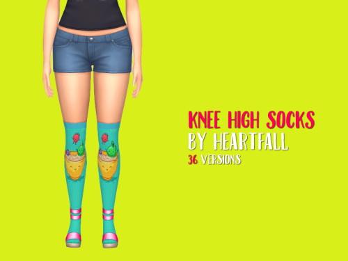 Simsworkshop: Knee High Socks by heartfall