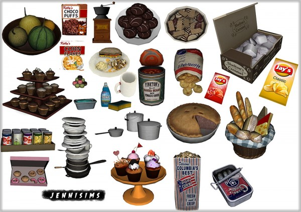 Jenni Sims: Kitchen Supplies Decoratives - 21 Items • Sims 4 Downloads