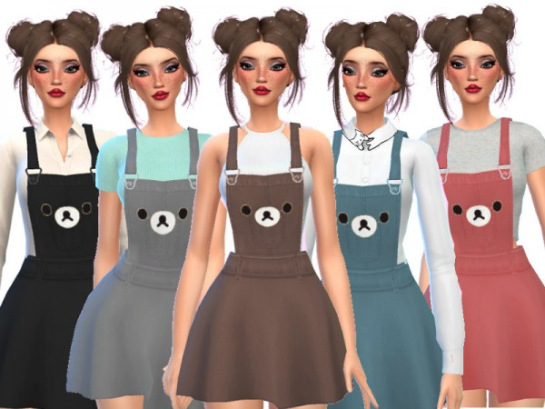 The Sims Resource: Kawaii Bear Overalls by Wicked Kittie