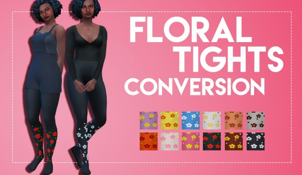 Simsworkshop: Floral Tights Conversion by Weepingsimmer
