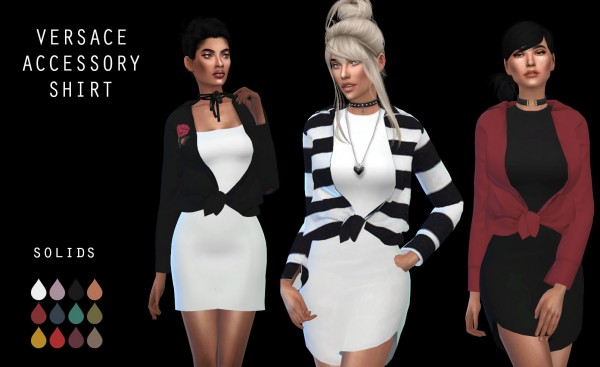 Leo 4 Sims: Accessory Shirt recolored