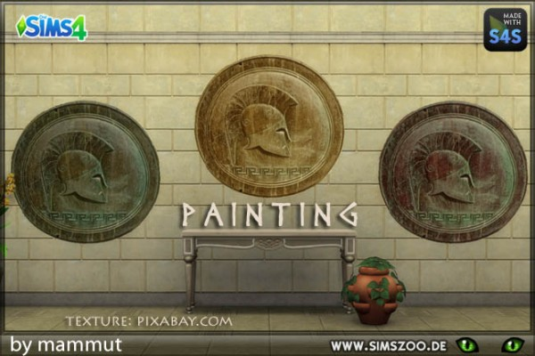 Blackys Sims 4 Zoo: Early Civ Wall deco 2 by mammut