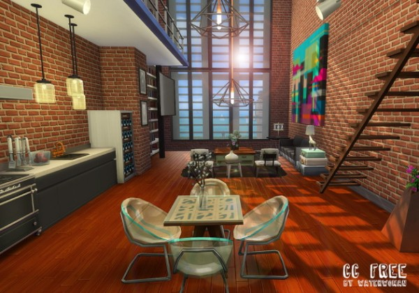 Akisima Sims Blog: Warehouse Loft