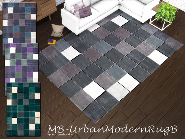 The Sims Resource: Urban Modern Rug B by matomibotaki