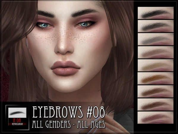The Sims Resource: Eyebrows 08 by RemusSirion