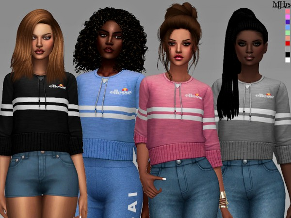 The Sims Resource: Ellesse Tops by Margeh 75