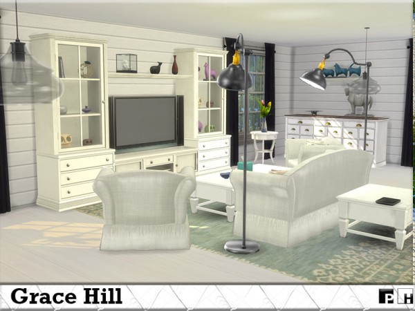 The Sims Resource: Grace Hill house by Pinkfizzzzz