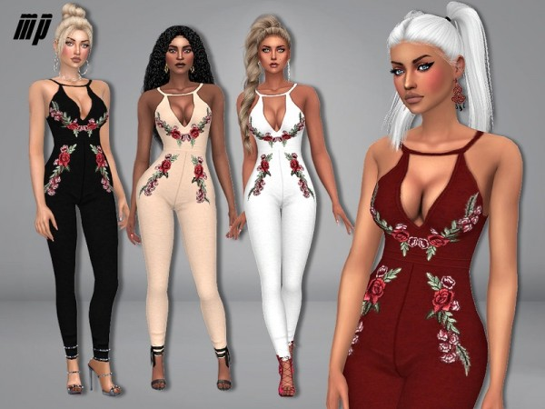 The Sims Resource: Floral Printed Jumpsuit by MartyP