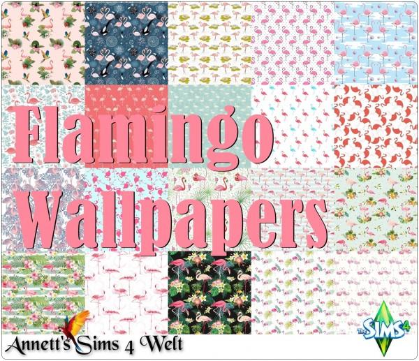 Annett`s Sims 4 Welt: Flamingo Wallpapers