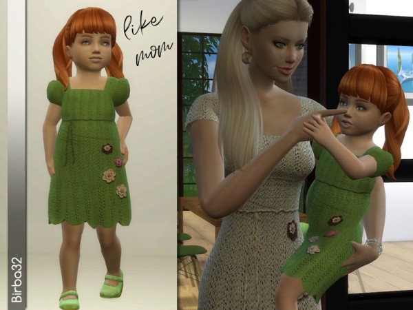 The Sims Resource: Like mom   Crochet dress by Birba32