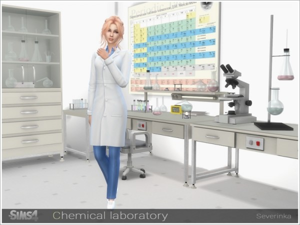The Sims Resource: Chemical laboratory by Severinka