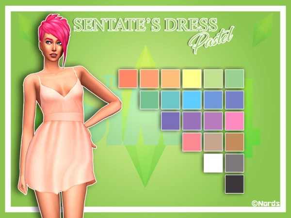 The Sims Resource: Shove Dress Pastel by Nords