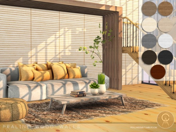 The Sims Resource Wood Walls By Pralinesims Sims 4