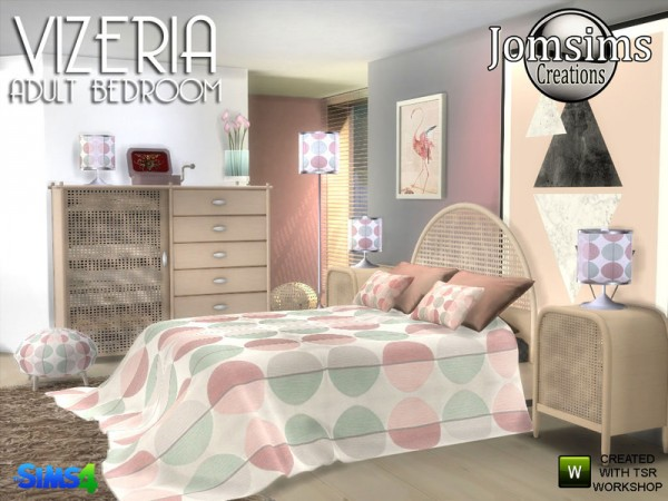 The Sims Resource Vizeria Bedroom By Jomsims Sims 4