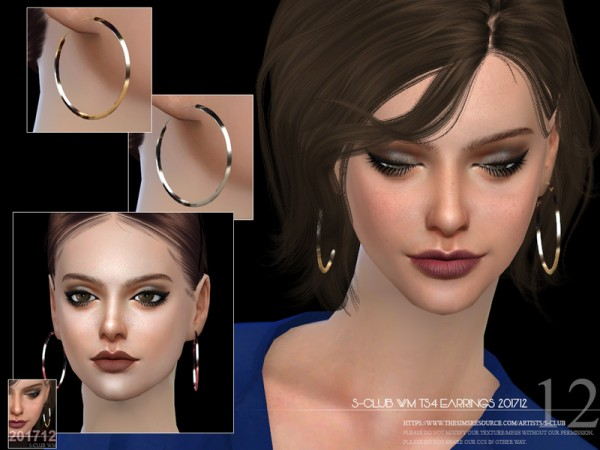 The Sims Resource: Earrings F 201712 by S Club