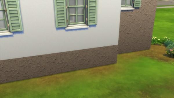 La Luna Rossa Sims: Outdoor Rough Plaster Foundation