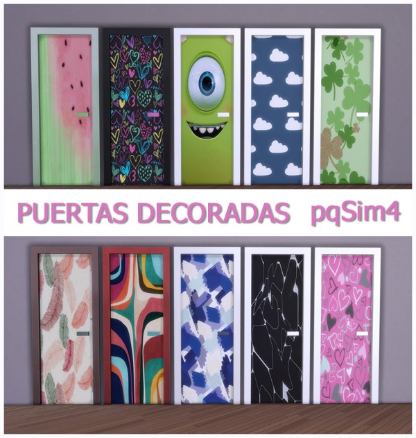 PQSims4: Decorated doors