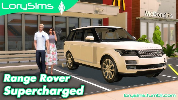 lory sims land rover range rover supercharged the sims. Black Bedroom Furniture Sets. Home Design Ideas