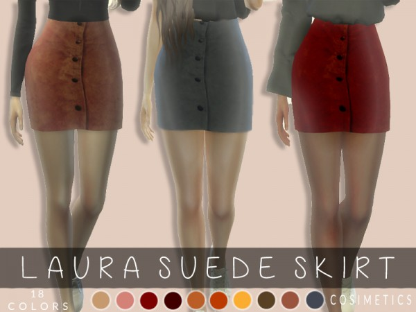 The Sims Resource: Laura suede skirt by cosimetics