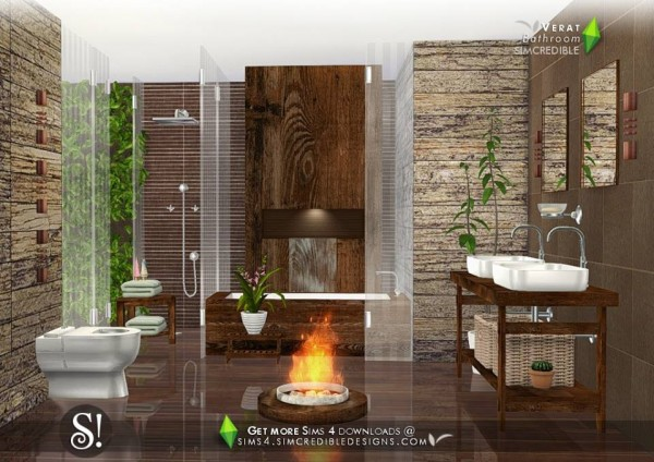 SIMcredible Designs: Verat bathroom • Sims 4 Downloads