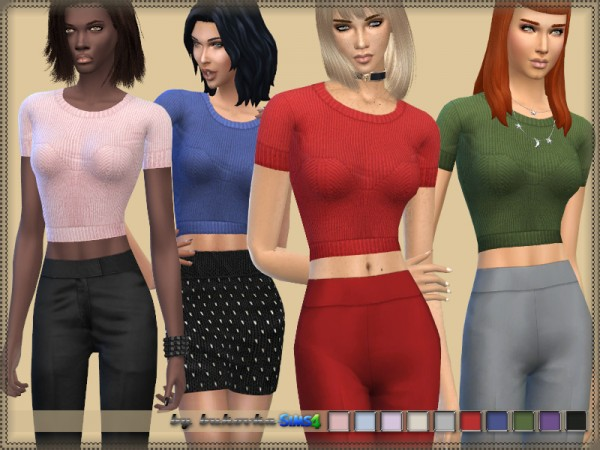 The Sims Resource: Top Knitted by bukovka