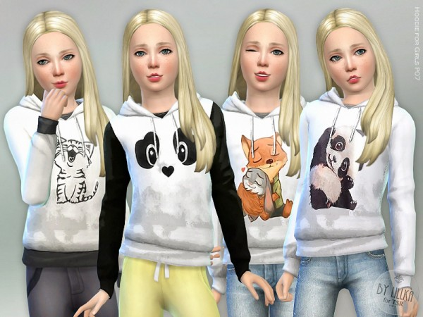 The Sims Resource: Hoodie for Girls P07 by lillka