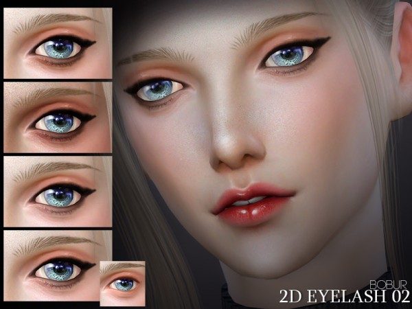 The Sims Resource: 2D Eyelash 02 by Bobur3