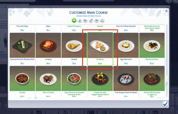 Mod The Sims: Custom Indian Food   Paratha by icemunmun
